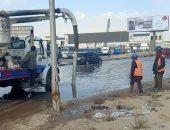 """استجابة لـ""""سيبها علينا"""".. مياه القاهرة توجه سيارات الشفط لمحور المشير"""
