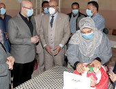 محافظ بنى سويف يطلق إشارة بدء الحملة القومية للتطعيم ضد شلل الأطفال