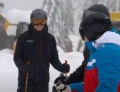 نجل الرئيس البيلاروسى يتزلج فى جبال سوتشى مع والده والرئيس بوتين.. فيديو وصور