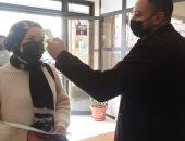 طلاب جامعة بورسعيد يؤدون امتحانات الفصل الدراسى الأول وسط إجراءات احترازية.. صور