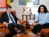 سفارة بلجيكا فى القاهرة تبرز حوار سفيرها مع اليوم السابع على حساباتها بمواقع التواصل الاجتماعى