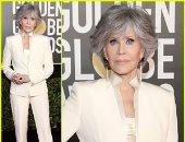 جين فوندا ترتدى بدلة قديمة فى جولدن جلوب 2021: تعهدت بعدم شراء ملابس مرة آخرى