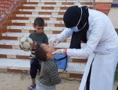 فرق تطعيم حملة شلل الأطفال بشمال سيناء تجوب القرى