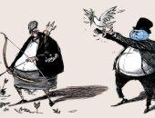 ميليشا الحوثى تُسقط جميع فرص السلام فى اليمن بكاريكاتير سعودى