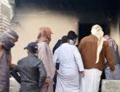 إخماد حريق التهم محتويات منزل بمدينة الضبعة فى مطروح.. صور