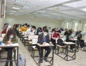انتظام امتحانات تجارة القاهرة وسط إجراءات الوقاية من كورونا.. بث مباشر