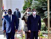 مراسم استقبال رئيس جمهورية غينيا بيساو فى قصر الاتحادية.. فيديو