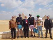 نجوم كرة القدم الأمريكية يصلون القاهرة للترويج للسياحة فى مصر