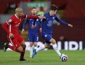 """ليفربول ضد تشيلسى.. ماونت يتقدم للبلوز بالهدف الأول.. """"فيديو"""""""