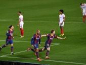 """برشلونة ضد إشبيلية.. برايثوايت يسجل هدف البارسا الثالث """"فيديو"""""""
