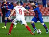 برشلونة ضد إشبيلية.. بيكيه ينقذ البارسا فى الوقت القاتل واللقاء للأشواط الإضافية