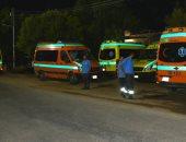 إصابة 5 أشخاص من أسرة واحدة فى حادث انقلاب سيارة ملاكى بقنا