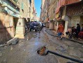 محافظة الجيزة تبدأ إصلاح كسر بماسورة مياه فى العمرانية