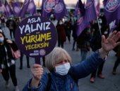 """سيدات تركيا ينتفضون في وجه """"أردوغان"""" ويحتجون ضد قمع المرأة.. ألبوم صور"""