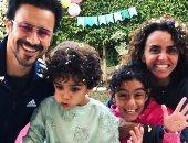 أحمد داوود وزوجته علا رشدى يحتفلان بعيد ميلاده ابنهما