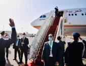 الرئيس السيسى يعود إلى أرض الوطن بعد زيارة سريعة للسودان