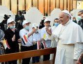 بابا الفاتيكان يحضر قداسا فى كاتدرائية القديس يوسف ببغداد..صور