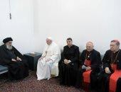 بابا الفاتيكان فى العراق.. يوم حافل وصلاة لضحايا الحروب.. ألبوم صور
