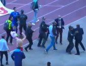 مشاجرة بعد مواجهة الأفريقي والصفاقسي فى الدوري التونسي.. فيديو