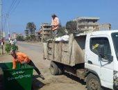 رفع 28 طن قمامة خلال حملة مكبرة بمجلس مدينة الباجور فى المنوفية