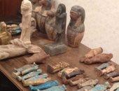ضبط 45 قطعة أثرية داخل منزل مواطن فى المنيا