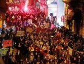 صور.. مظاهرات نسائية حاشدة فى تركيا احتجاجا على قتل النساء