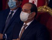 """الرئيس السيسى يبكى متأثرا خلال عرض فيلم """"سيرة الشهداء"""" بالندوة التثقيفية"""