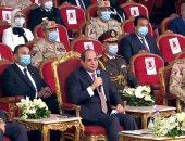 """الرئيس السيسى بالندوة التثقيفية: """"الشهداء قدموا دمهم علشان البلد تعيش"""""""