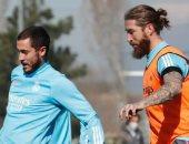 أخبار ريال مدريد اليوم عن عودة هازارد وراموس إلى تدريبات الملكي