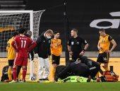 """وولفرهامبتون ضد ليفربول.. إصابة خطيرة لحارس """"الذئاب"""" بعد هدف صلاح الملغى"""