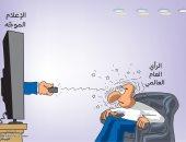 دور الإعلام الموجه فى السيطرة على الرأى العام العالمى بكاريكاتير سعودى