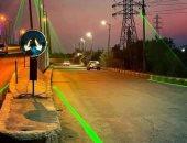 بدء تركيب نظام الإشارات بالليزر فى القليوبية لمواجهة الشبورة.. صور