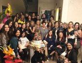 بوسى شلبى تستعيد ذكريات عيد ميلادها بصورة تجمع نجمات مصر ورجاء الجداوى