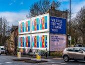 """""""ما زلنا نراكم"""".. ملصقات تحفيزية لضحايا فيروس كورونا في بريطانيا .. ألبوم صور"""