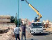 محافظ مطروح يوجه بإنارة شوارع 43 منطقة وعزبة قبل شهر رمضان