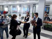 مطار الغردقة يستقبل رحلة سياحية من أوكرانيا تقل 189 راكبا.. صور