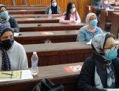بث مباشر.. انطلاق الفصل الدراسى الثانى بآداب القاهرة وسط إجراءات احترازية