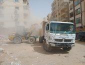محافظة الجيزة ترفع مخلفات متراكمة بحدائق الأهرام وتواصل حملاتها على التوك توك