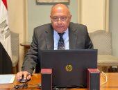 سامح شكرى يؤكد دعم مصر لكل المساعى الرامية لإيجاد تسوية شاملة للأزمة السورية