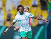 السعودية تتقدم على فلسطين بثنائية فى الشوط الأول بتصفيات كأس العالم.. فيديو