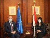 وزيرة التعاون الدولي تبحث مع سفير الاتحاد الأوروبي مجالات التعاون المستقبلية