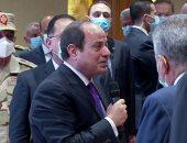 الرئيس السيسى: كنت أتابع السفينة الجانحة يوميا وقناة السويس قادرة وباقية