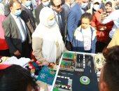 وزيرة التضامن توزع جوائز على الفائزين بالمسابقات الرياضية احتفالا بيوم اليتيم