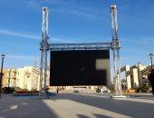 """ميدان أسوان يستعد لبث حدث """"نقل المومياوات"""" على شاشة عملاقة.. صور"""