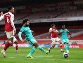 محمد صلاح يسجل أول أهدافه بالقدم اليمنى في الدوري الإنجليزي ضد أرسنال