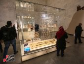 المتحف القومى للحضارة يبدأ استقبال زائريه بعد افتتاحه أمس.. صور