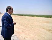"""الرئيس السيسى يتفقد """"مستقبل مصر"""" بالصحراء الغربية ويلتقى المستثمرين.. فيديو"""