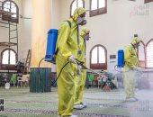 الأوقاف تواصل حملة تعقيم ونظافة المساجد استعدادا لشهر رمضان