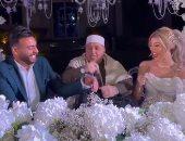 """عقد قران محمد أبو جبل والأميرة سمارة بـ""""الكلابشات"""".. فيديو وصور"""