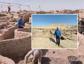 شاهد المدينة المفقودة المكتشفة على يد بعثة زاهى حواس غرب الأقصر كاملة من الأعلى
